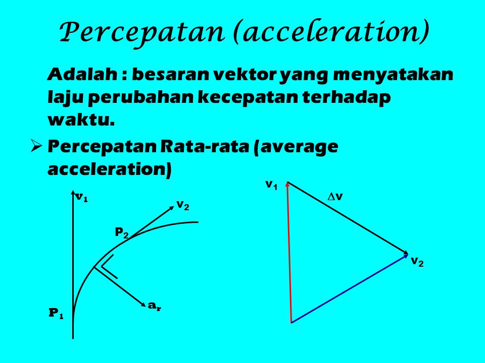 Percepatan (acceleration)