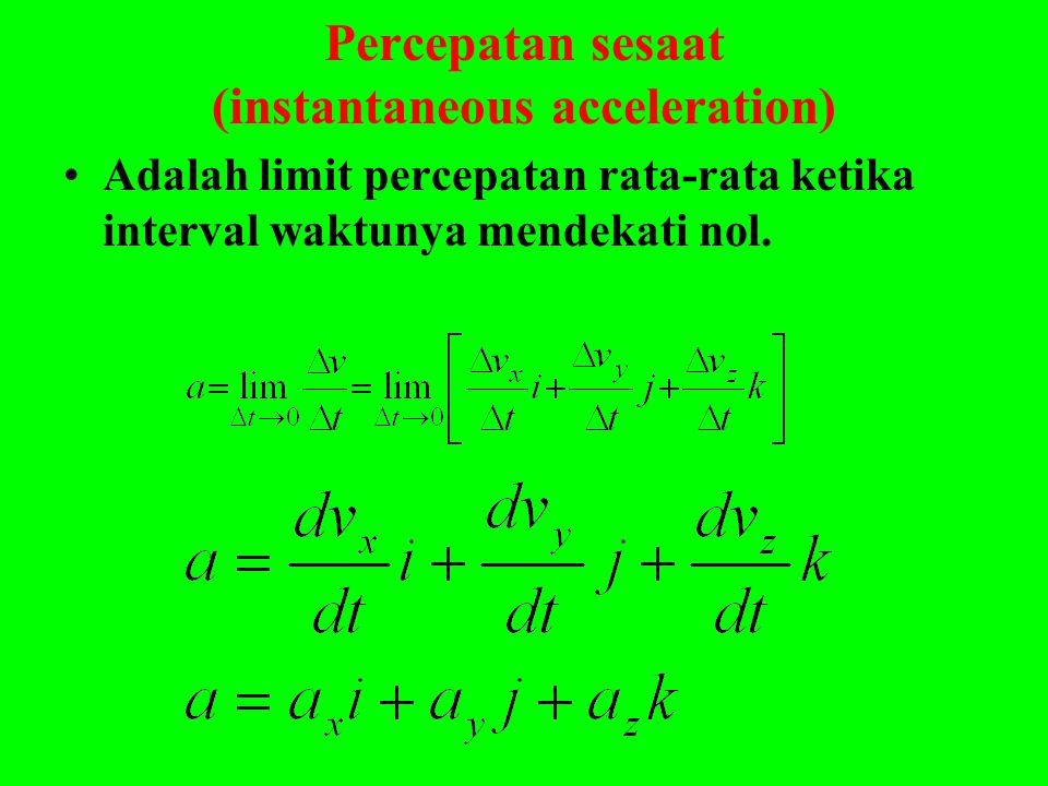 Percepatan sesaat (instantaneous acceleration)