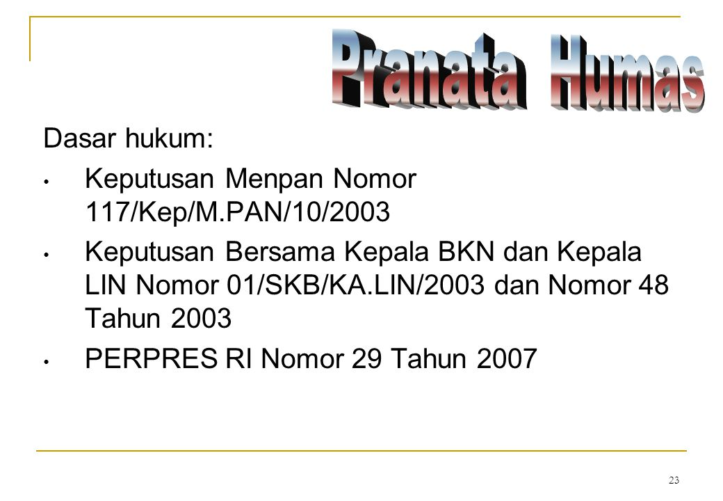Keputusan Menpan Nomor 117/Kep/M.PAN/10/2003