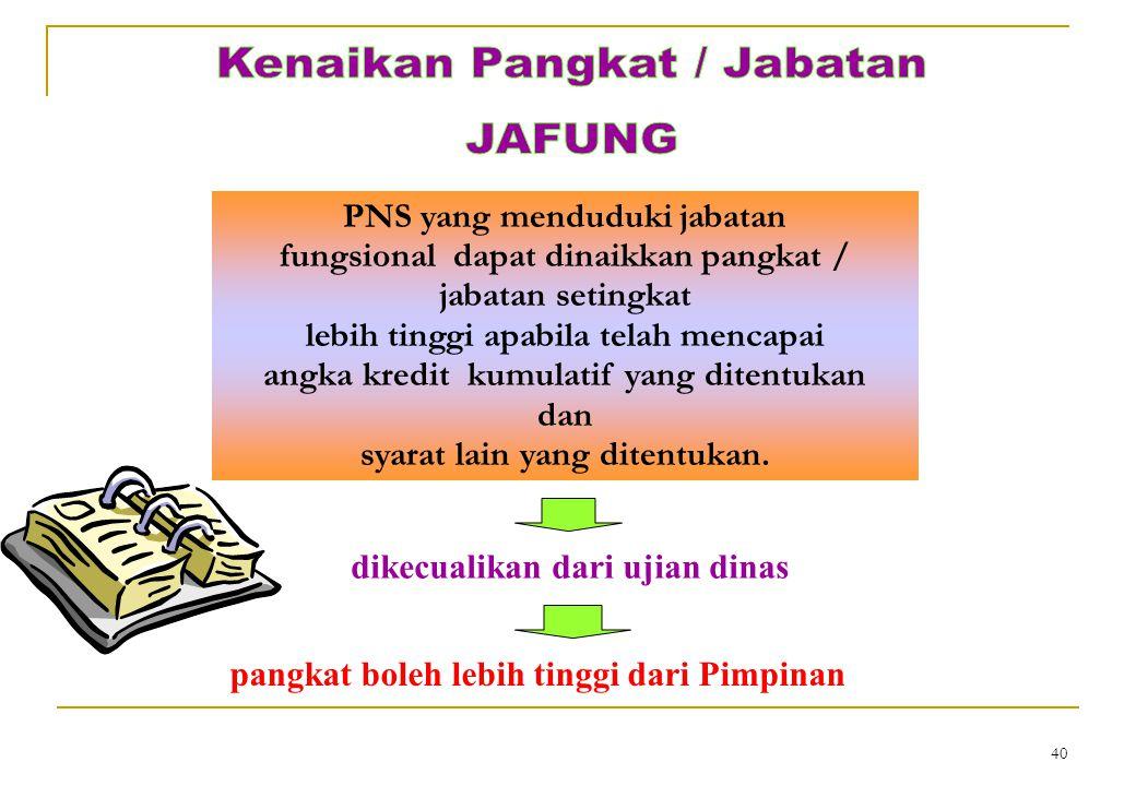 Kenaikan Pangkat / Jabatan JAFUNG
