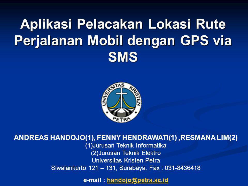 Aplikasi Pelacakan Lokasi Rute Perjalanan Mobil dengan GPS via SMS