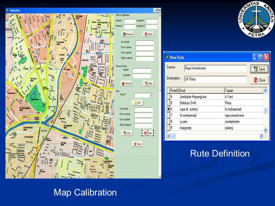 Rute Definition Map Calibration