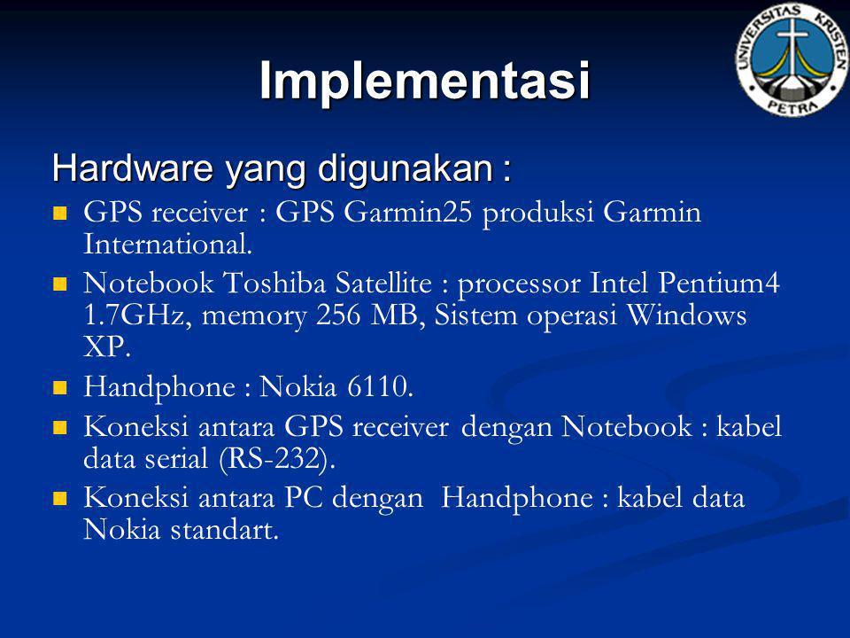 Implementasi Hardware yang digunakan :
