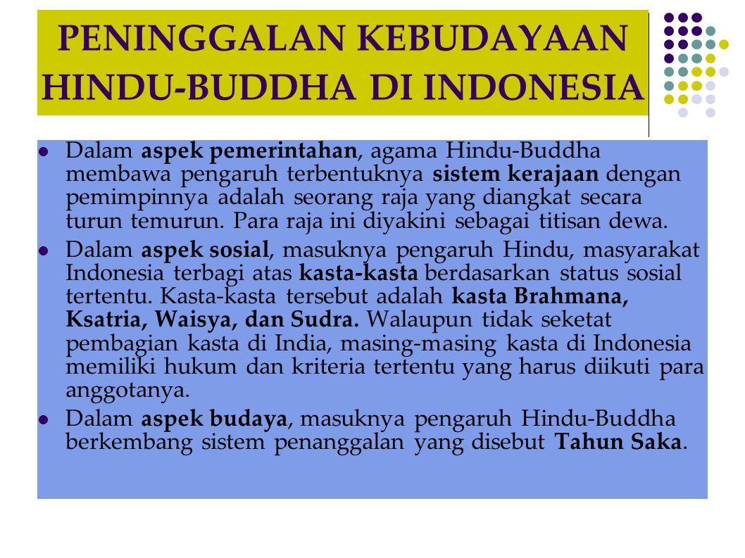 PENINGGALAN KEBUDAYAAN HINDU-BUDDHA DI INDONESIA