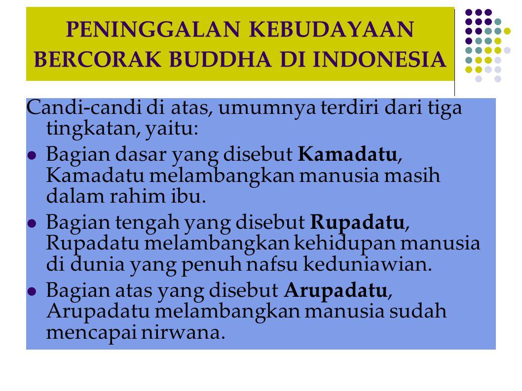PENINGGALAN KEBUDAYAAN BERCORAK BUDDHA DI INDONESIA