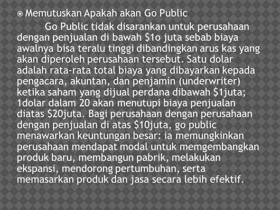 Memutuskan Apakah akan Go Public