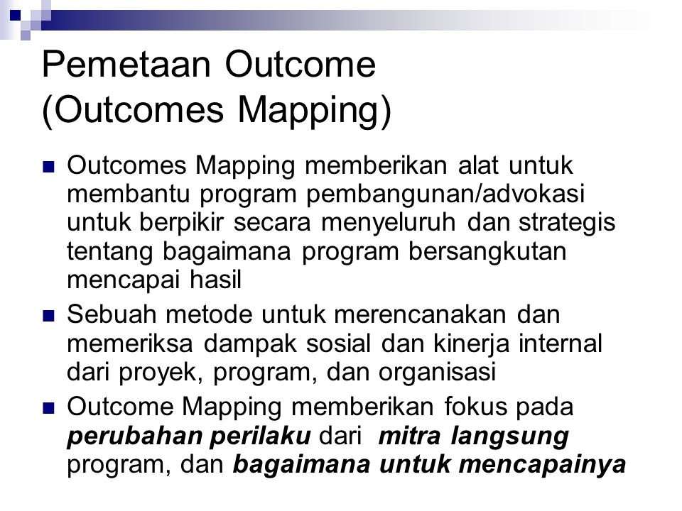 Pemetaan Outcome (Outcomes Mapping)