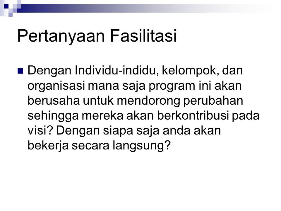 Pertanyaan Fasilitasi