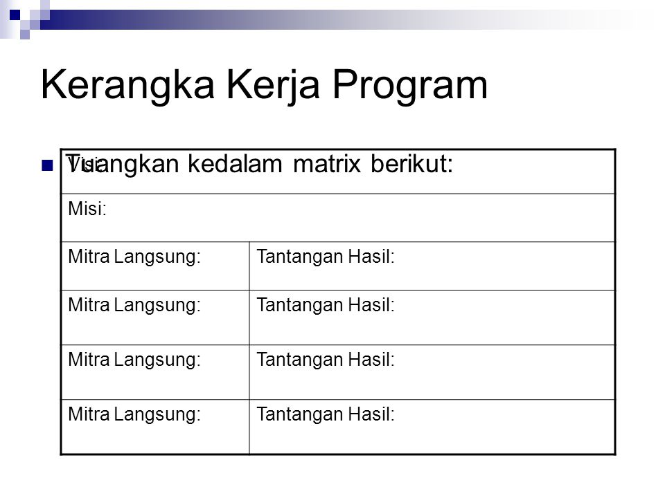 Kerangka Kerja Program