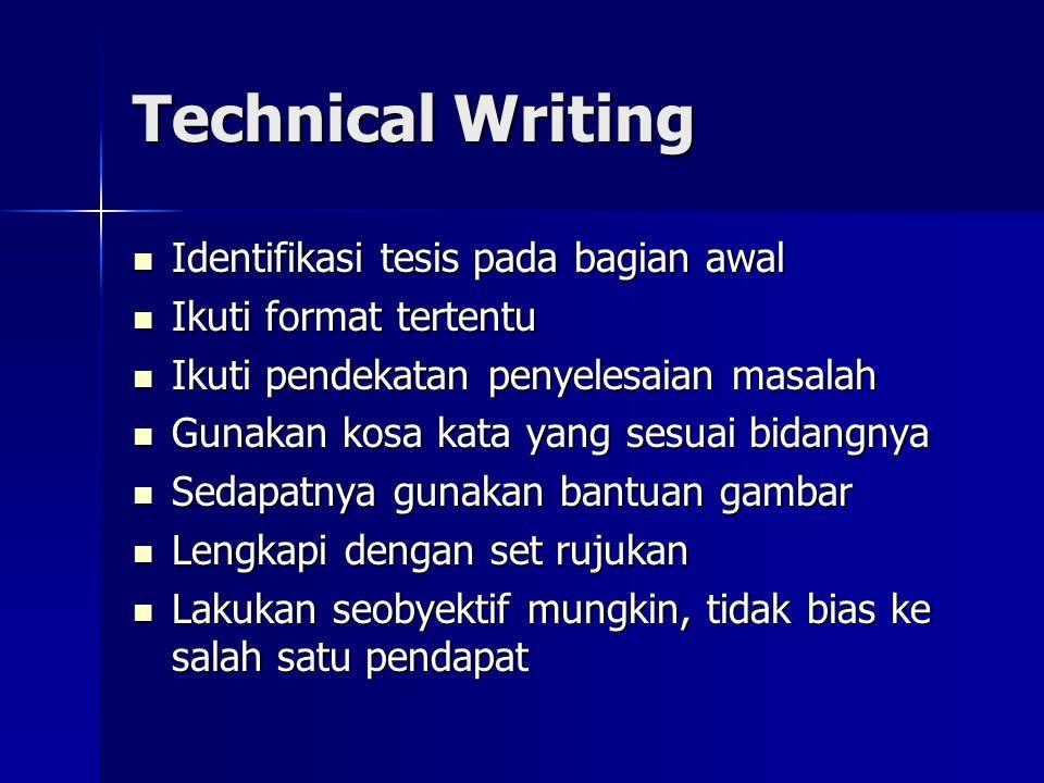 Technical Writing Identifikasi tesis pada bagian awal