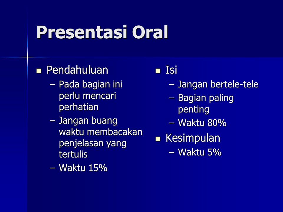 Presentasi Oral Pendahuluan Isi Kesimpulan