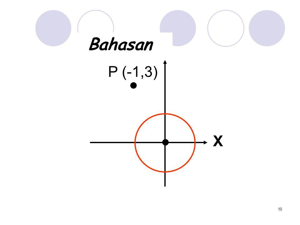 Bahasan P (-1,3) ● ● X