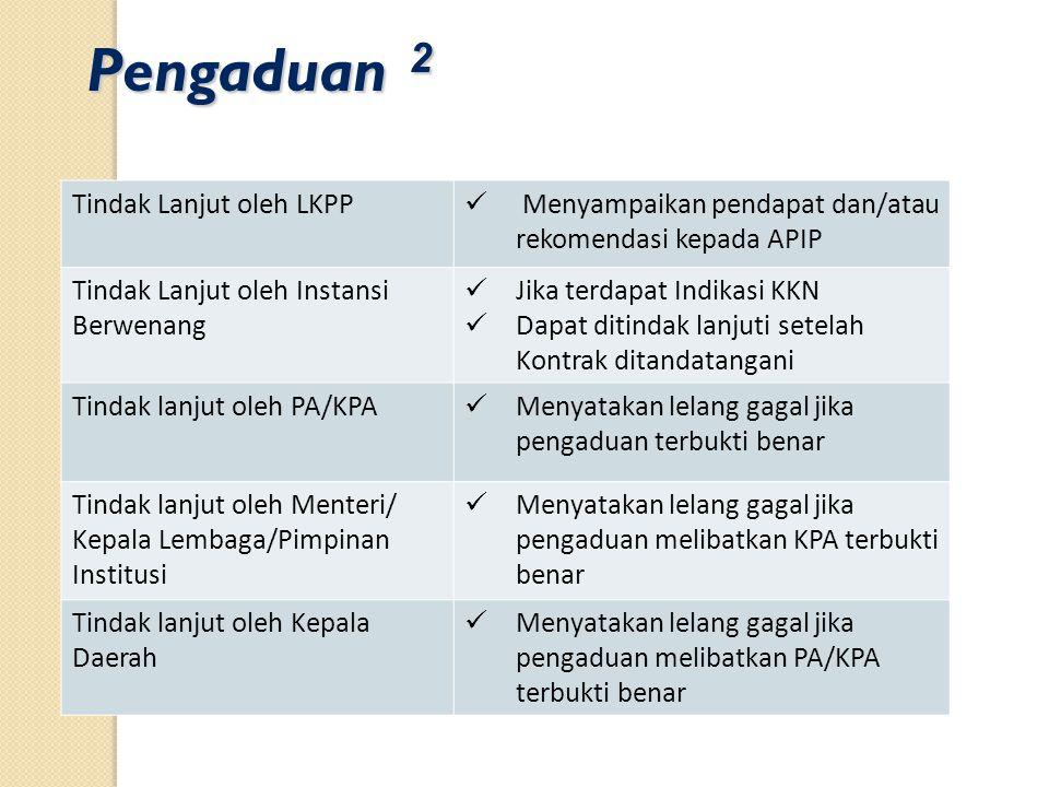Pengaduan 2 Tindak Lanjut oleh LKPP