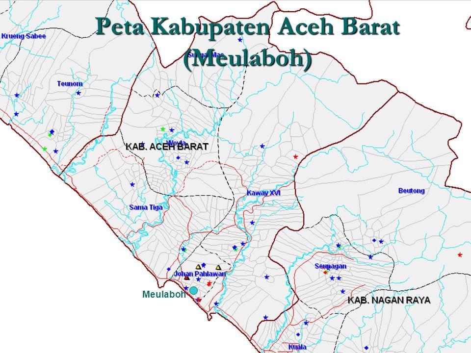 Peta Kabupaten Aceh Barat (Meulaboh)