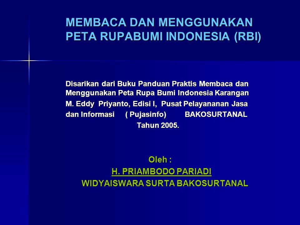 MEMBACA DAN MENGGUNAKAN PETA RUPABUMI INDONESIA (RBI)