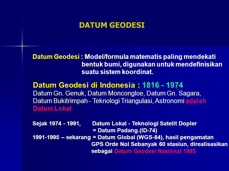 Datum Geodesi di Indonesia : 1816 - 1974