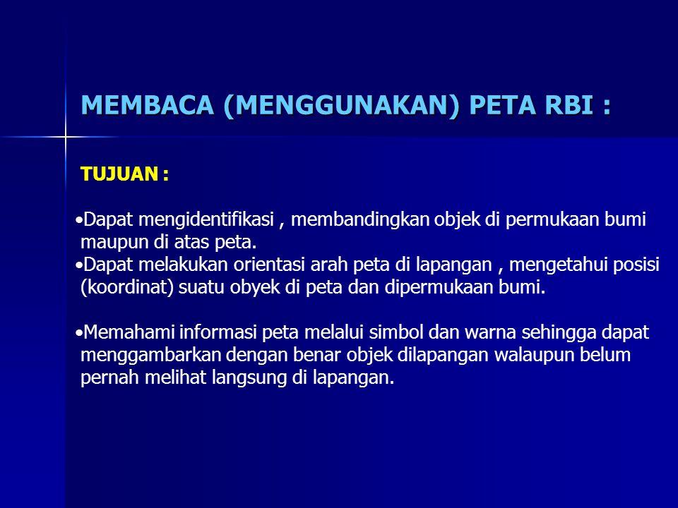 MEMBACA (MENGGUNAKAN) PETA RBI :