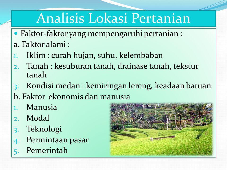 Analisis Lokasi Pertanian