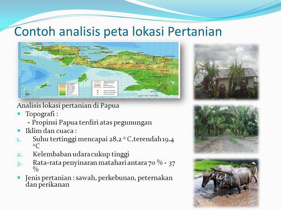 Contoh analisis peta lokasi Pertanian