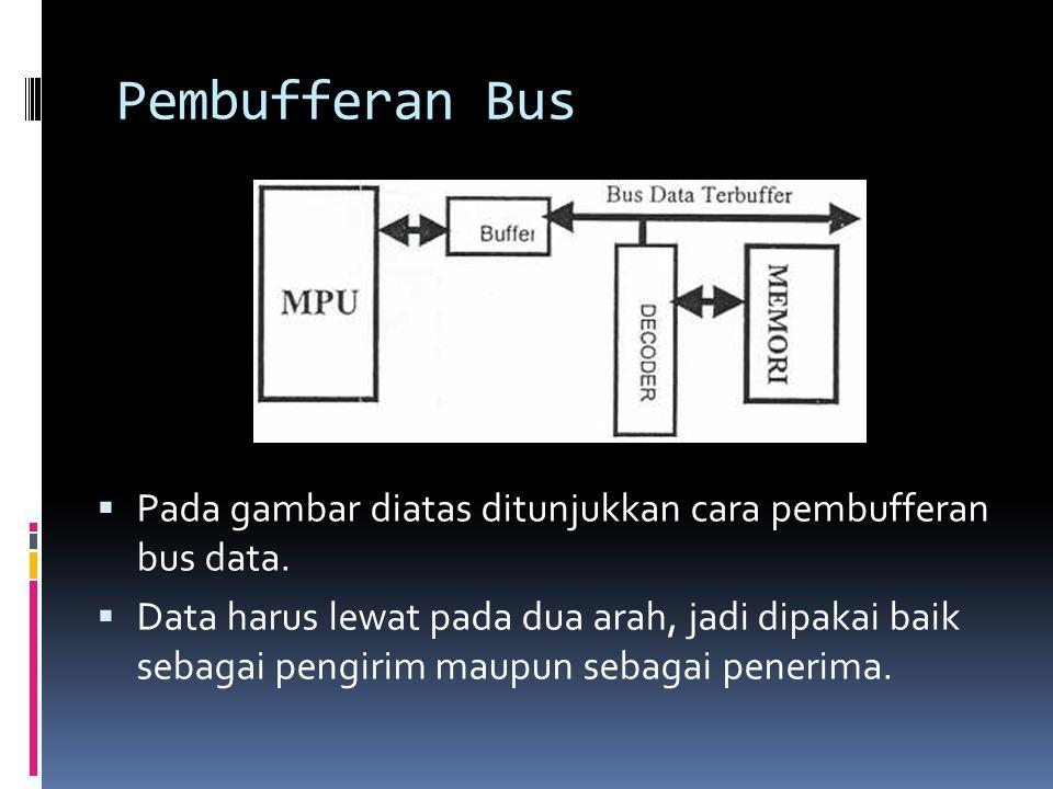 Pembufferan Bus Pada gambar diatas ditunjukkan cara pembufferan bus data.