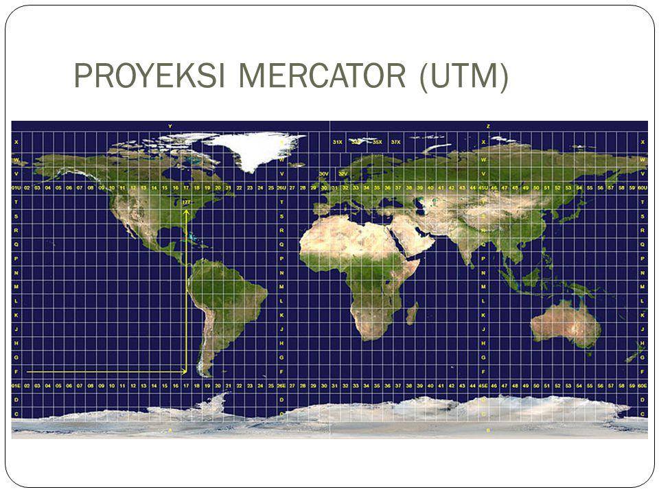 PROYEKSI MERCATOR (UTM)