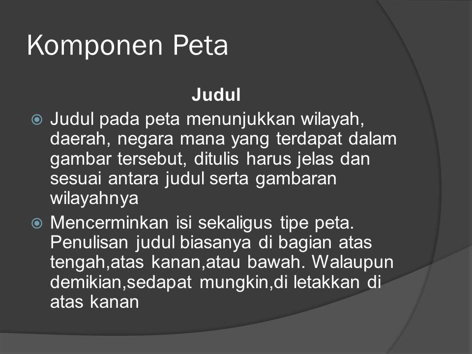 Komponen Peta Judul.