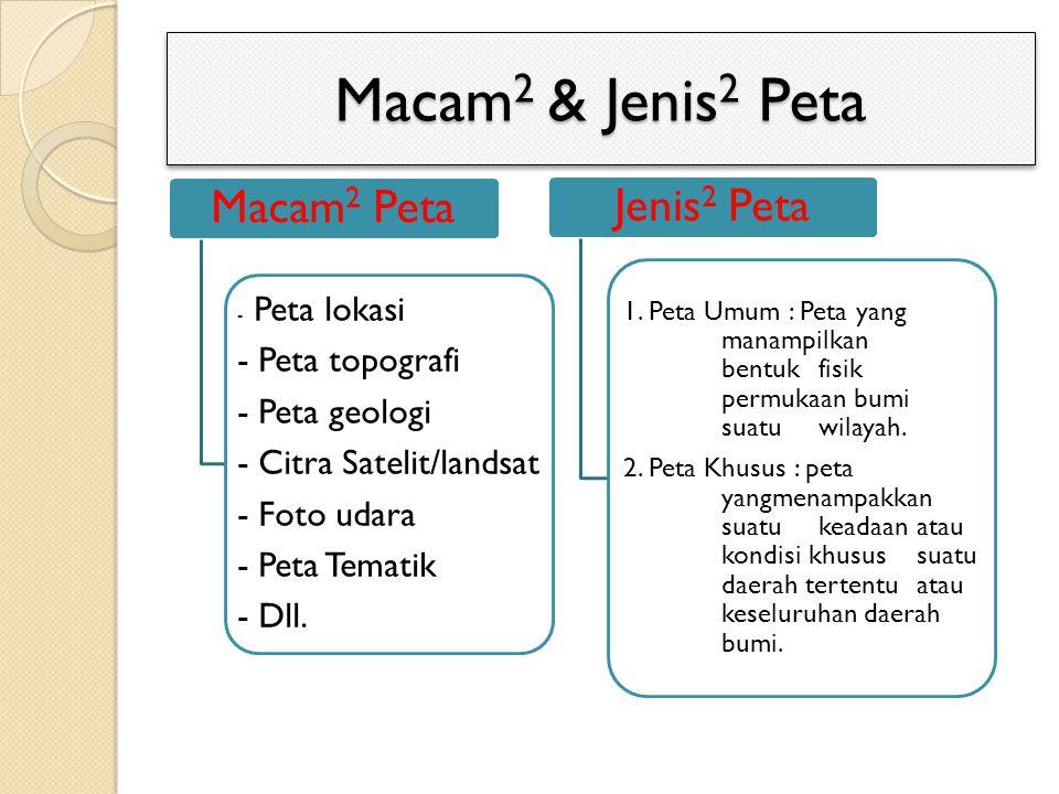 Macam2 & Jenis2 Peta - Peta topografi - Peta geologi