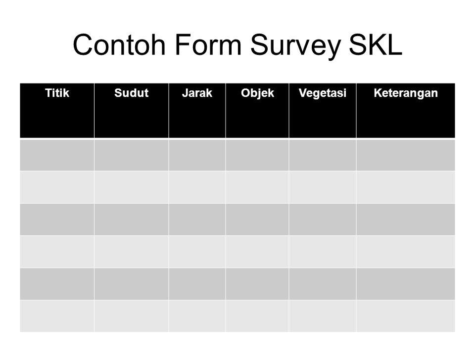 Contoh Form Survey SKL Titik Sudut Jarak Objek Vegetasi Keterangan
