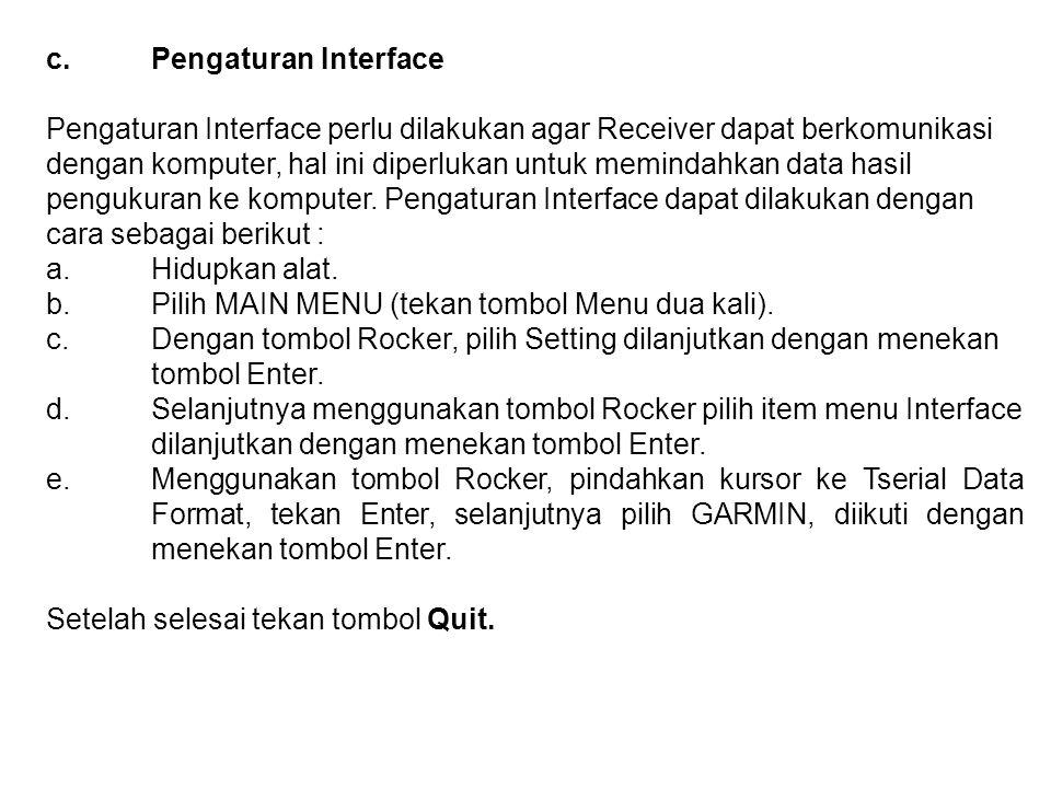 c. Pengaturan Interface
