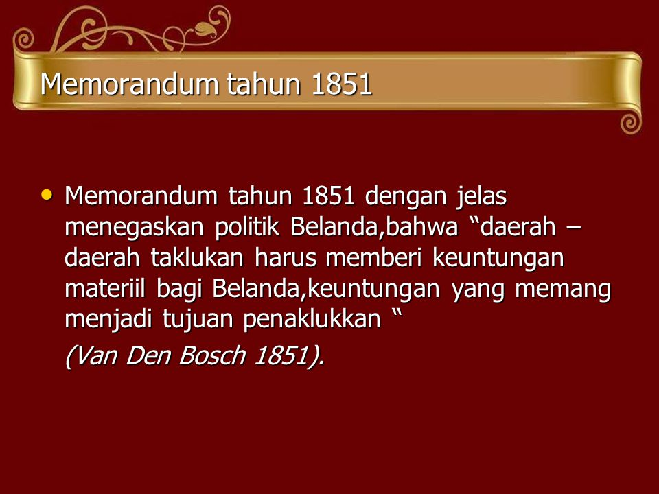 Memorandum tahun 1851