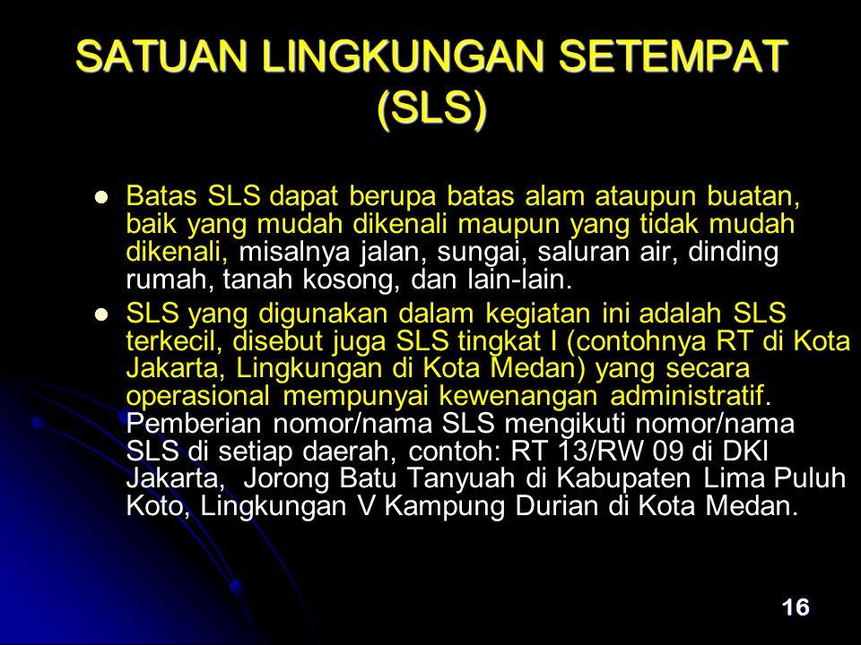 SATUAN LINGKUNGAN SETEMPAT (SLS)