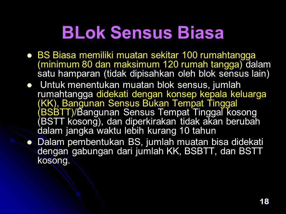 BLok Sensus Biasa