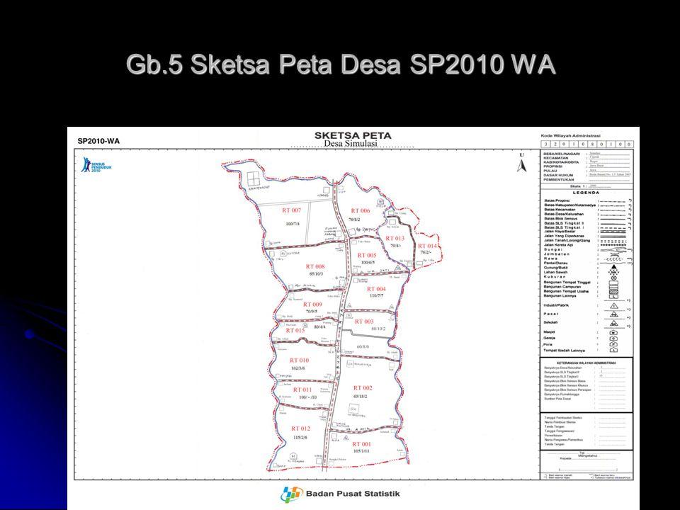 Gb.5 Sketsa Peta Desa SP2010 WA