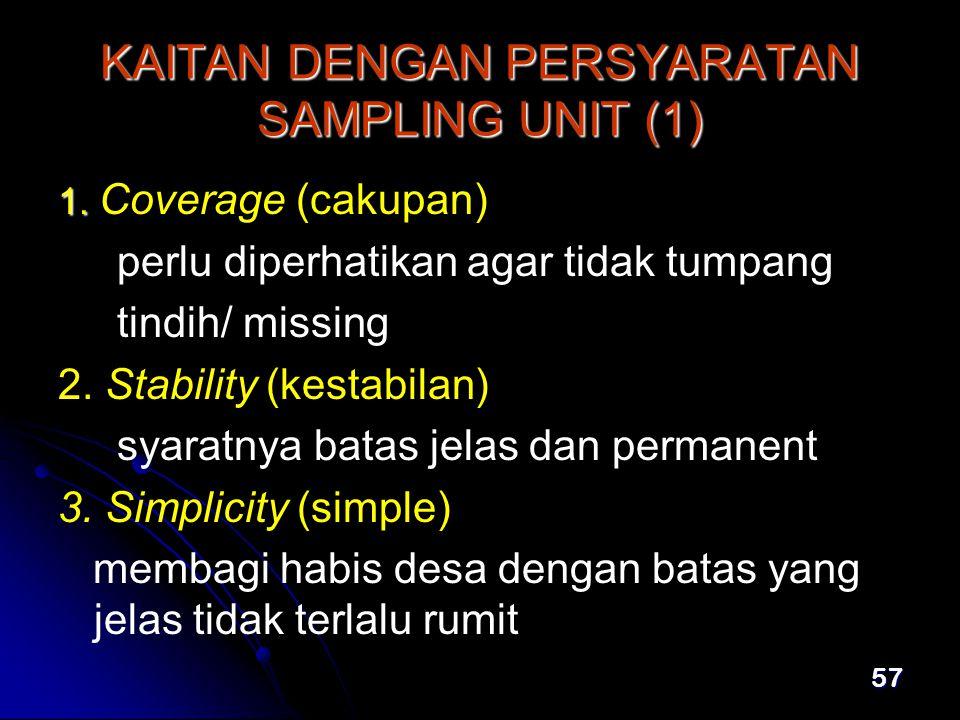 KAITAN DENGAN PERSYARATAN SAMPLING UNIT (1)