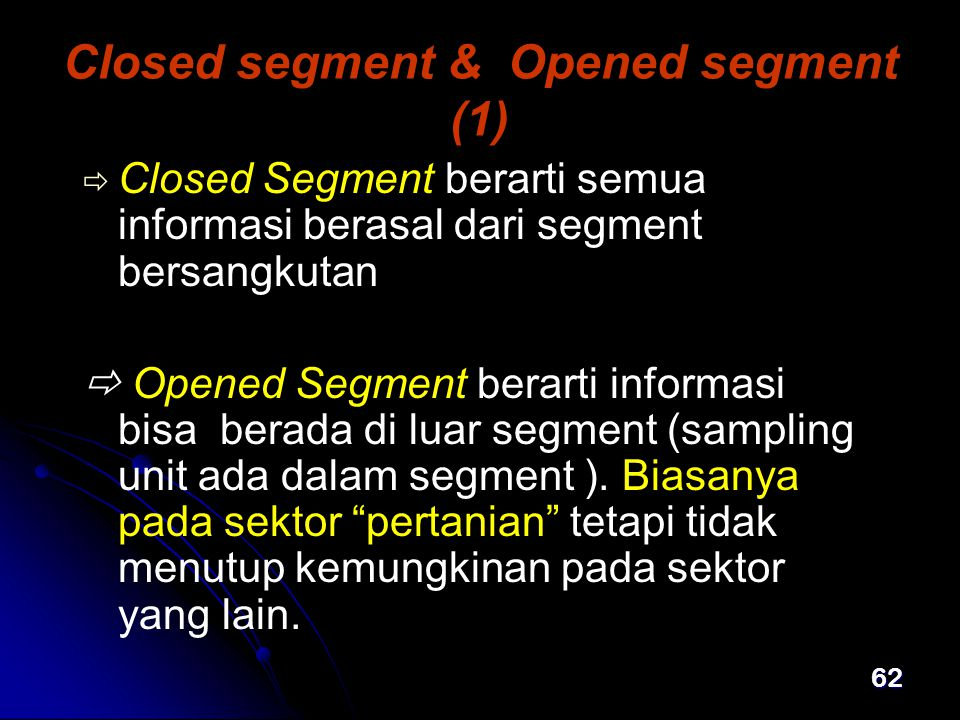 Closed segment & Opened segment (1)