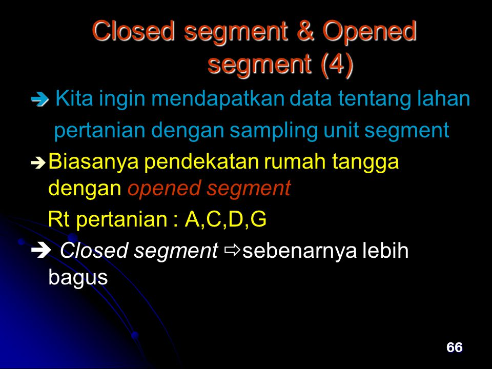 Closed segment & Opened segment (4)