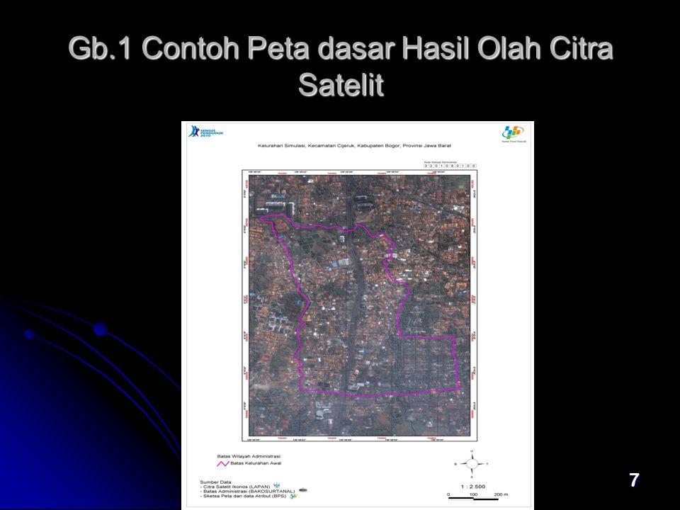 Gb.1 Contoh Peta dasar Hasil Olah Citra Satelit