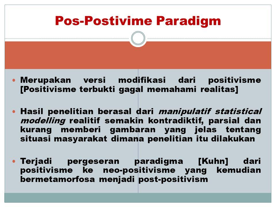 Pos-Postivime Paradigm