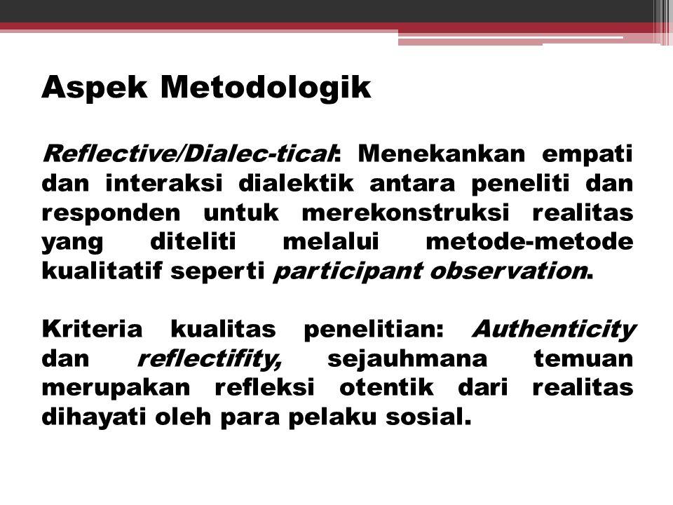 Aspek Metodologik