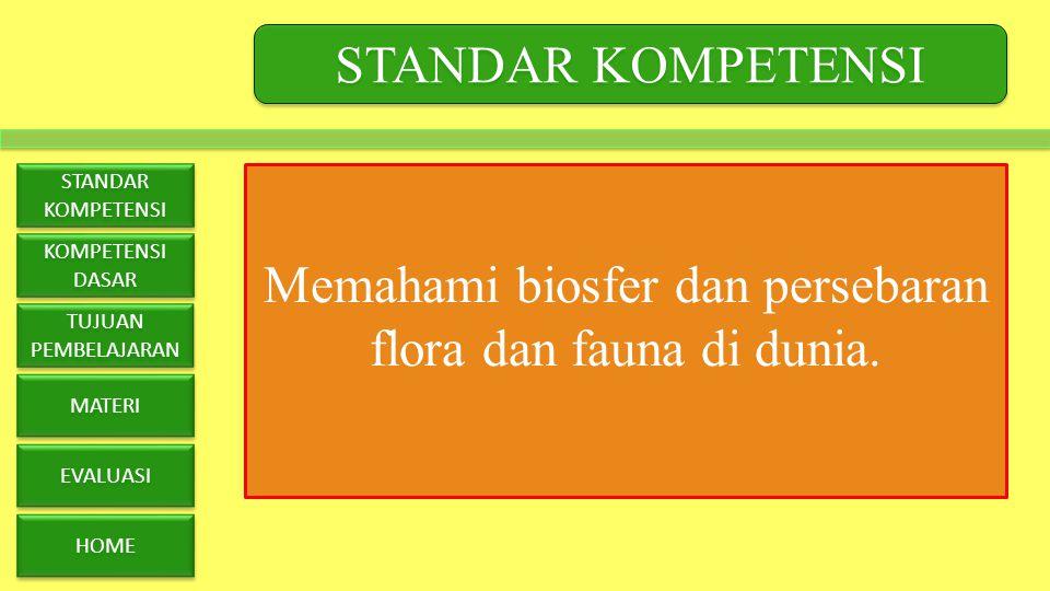 Memahami biosfer dan persebaran flora dan fauna di dunia.