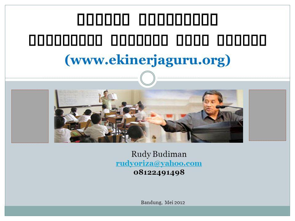 Sistem Pelaporan Penilaian Kinerja Guru Online (www.ekinerjaguru.org)