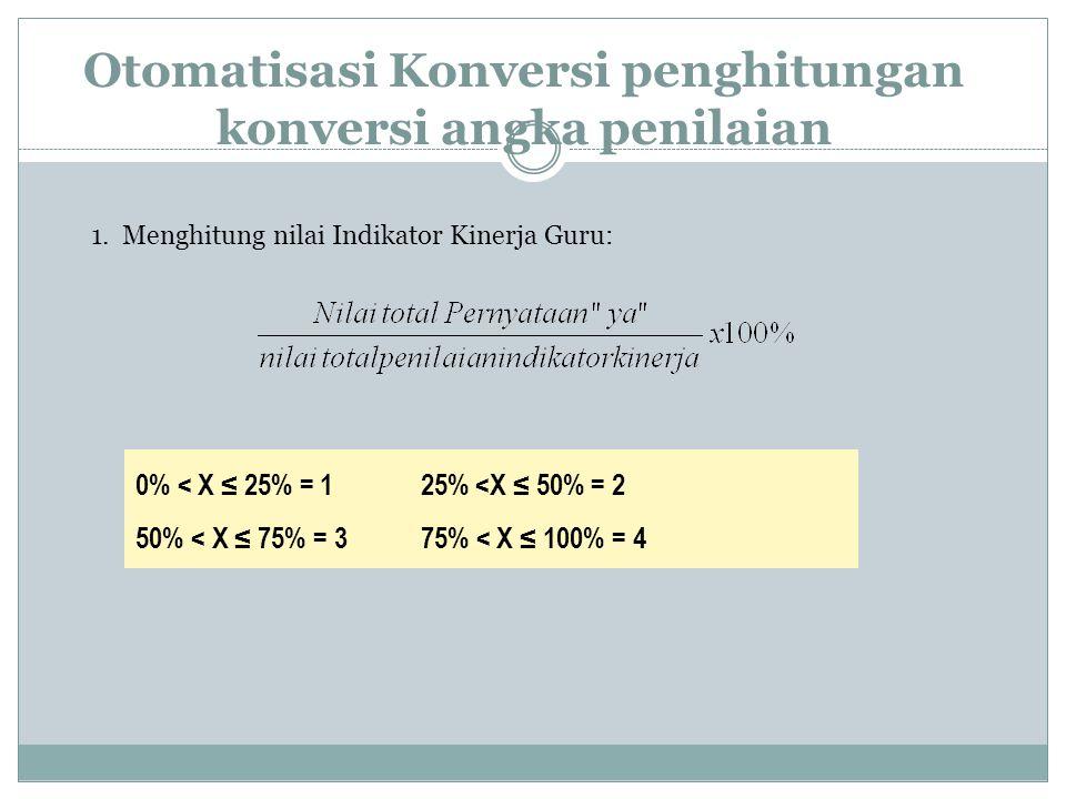 Otomatisasi Konversi penghitungan konversi angka penilaian