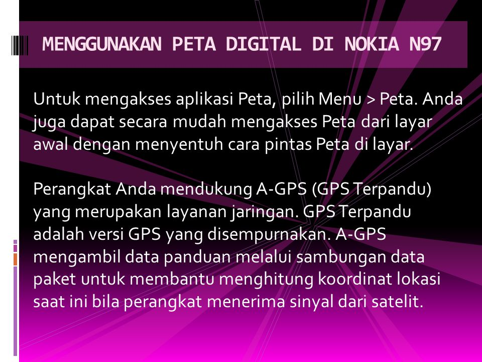 MENGGUNAKAN PETA DIGITAL DI NOKIA N97