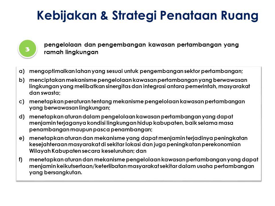 Kebijakan & Strategi Penataan Ruang