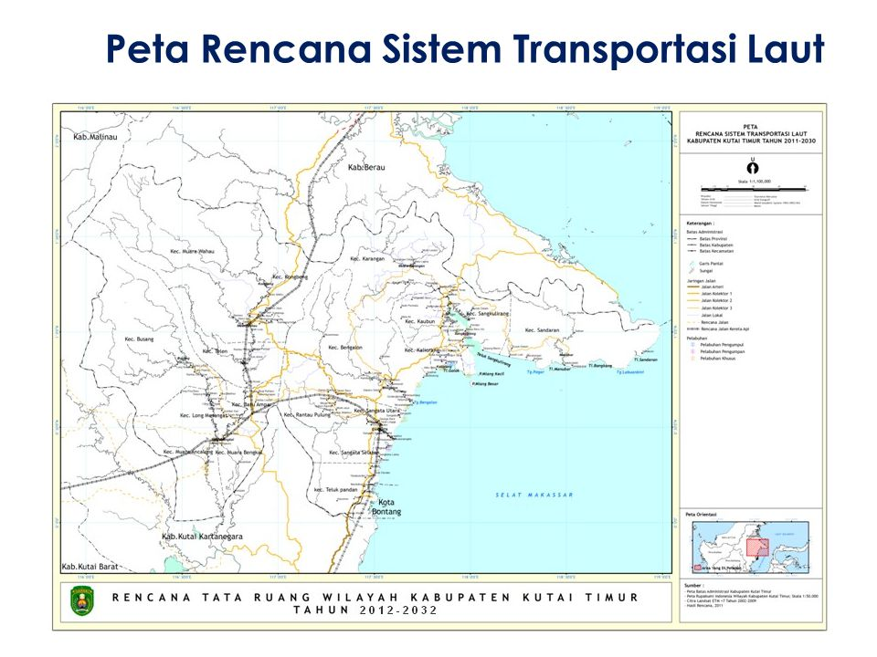 Peta Rencana Sistem Transportasi Laut