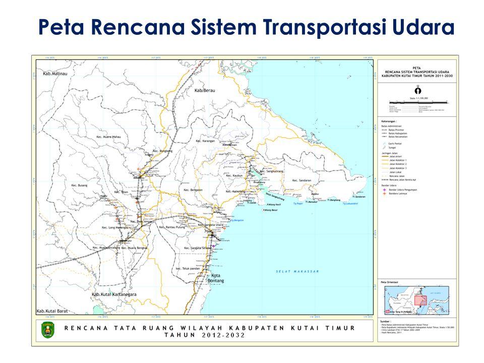 Peta Rencana Sistem Transportasi Udara