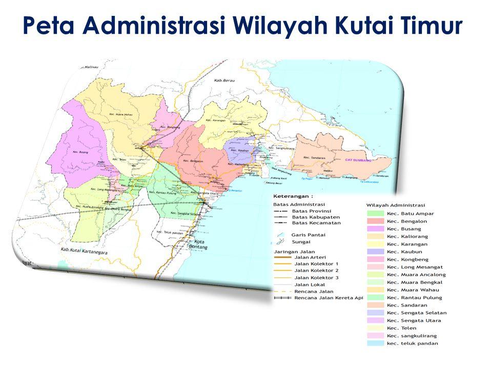 Peta Administrasi Wilayah Kutai Timur