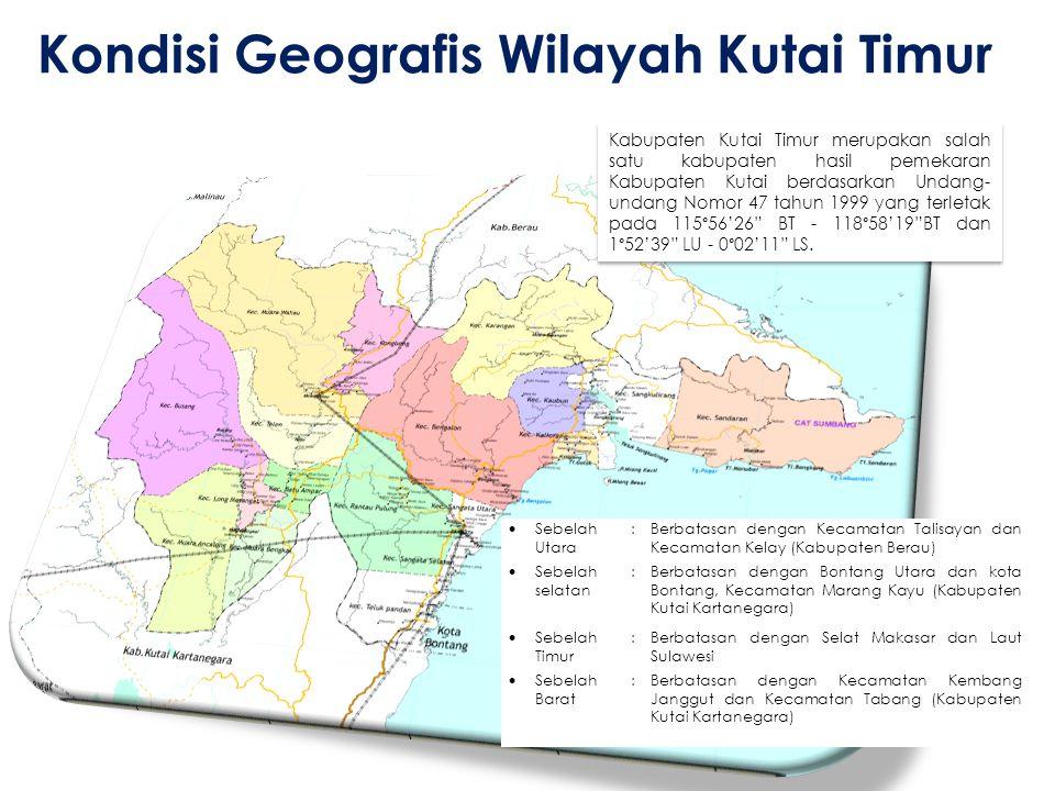 Kondisi Geografis Wilayah Kutai Timur