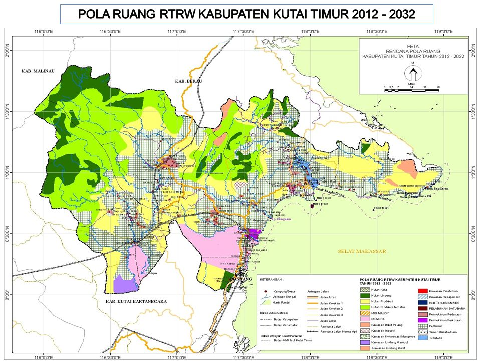 POLA RUANG RTRW KABUPATEN KUTAI TIMUR 2012 - 2032