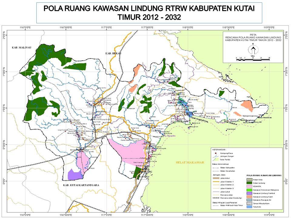 POLA RUANG KAWASAN LINDUNG RTRW KABUPATEN KUTAI TIMUR 2012 - 2032